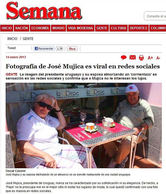 Pepe Mujica un Presidente Sencillo