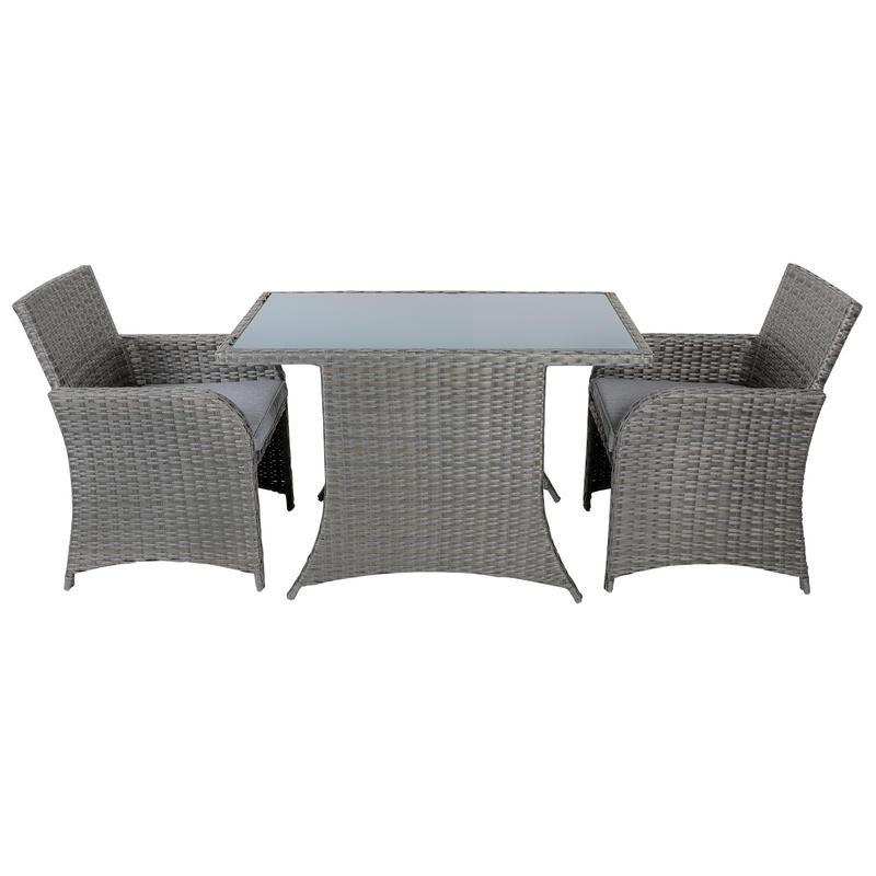 Aruba Rattan Wicker Balcony 2-Seat Garden Furniture Set