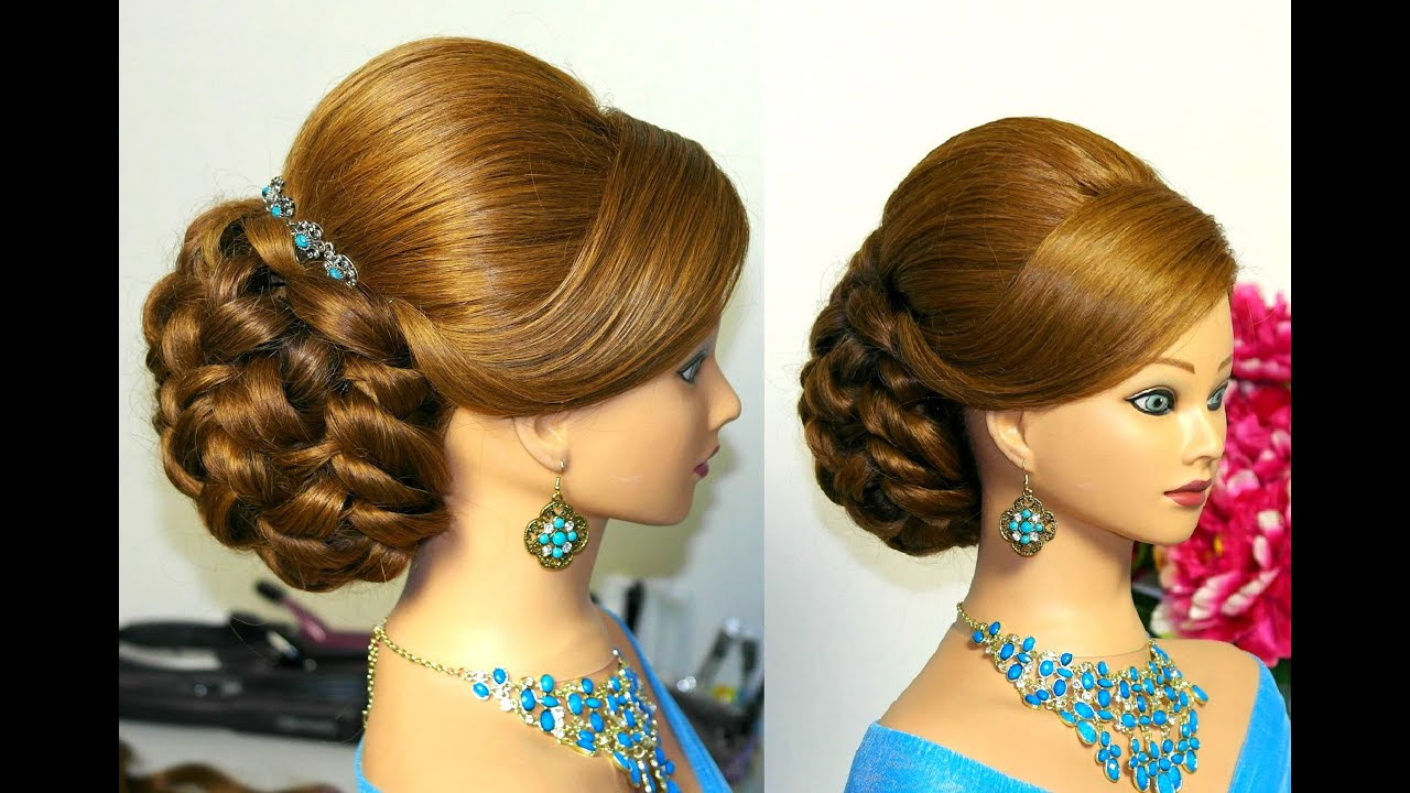 Bridal wedding hairstyles  for long  hair  YouTube