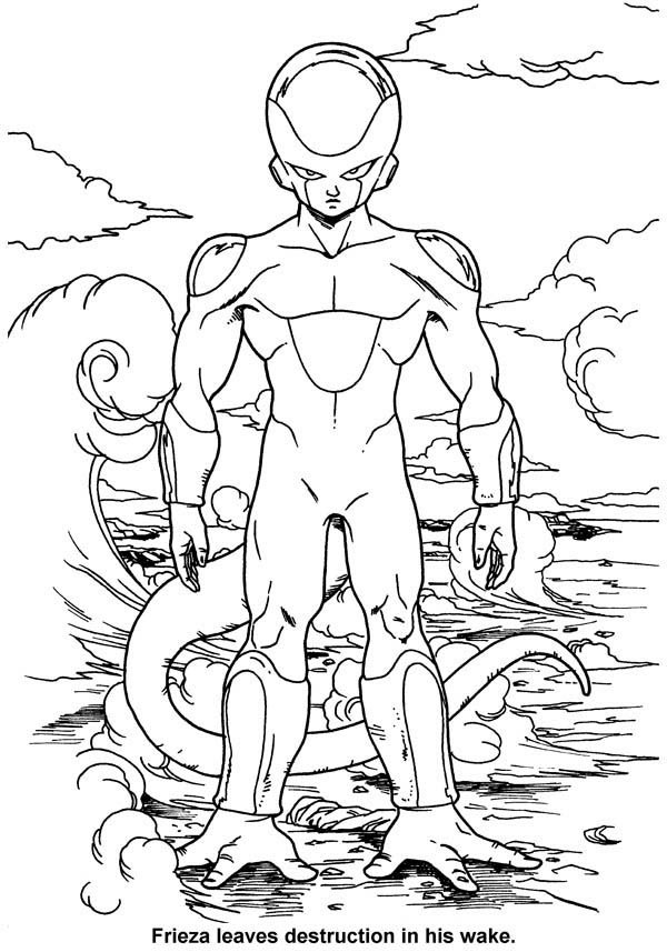 Frieza Final Form in Dragon Ball Z Coloring Page | Kids ...