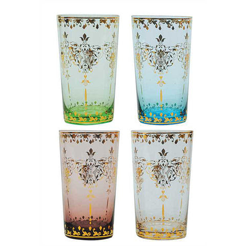 Moroccan Colored Glass Set