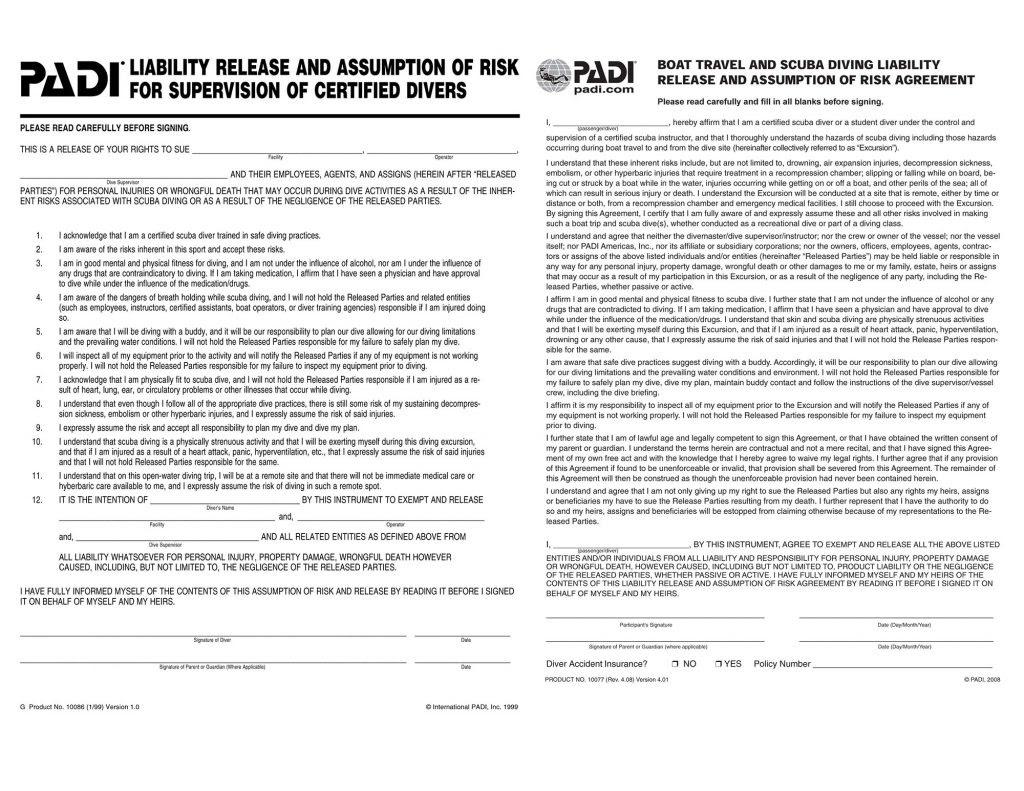 Liability Forms Jads Aruba
