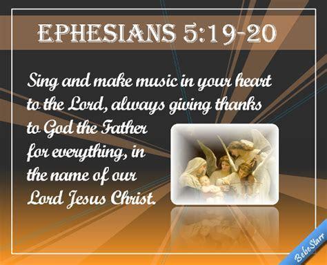 Ephesians 5:19 20. Free Quotes & Poetry eCards, Greeting