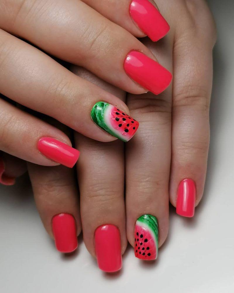 30 Trendy Watermelon Nail Art Designs for Summer | Xuzinuo ...