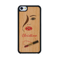 Face and Lipstick Carved® Wooden iPhone 5C Cases Carved® Cherry iPhone 5C Slim Case