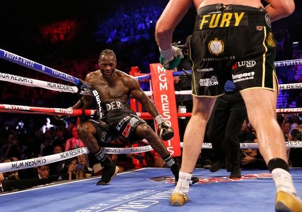 DEONTAY WILDER HOSPITALIZED AFTER BLOODY BRUTAL DEFEAT TO TYSON FURY