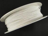 Sznurek skręcany 2 mm biały - 1 m