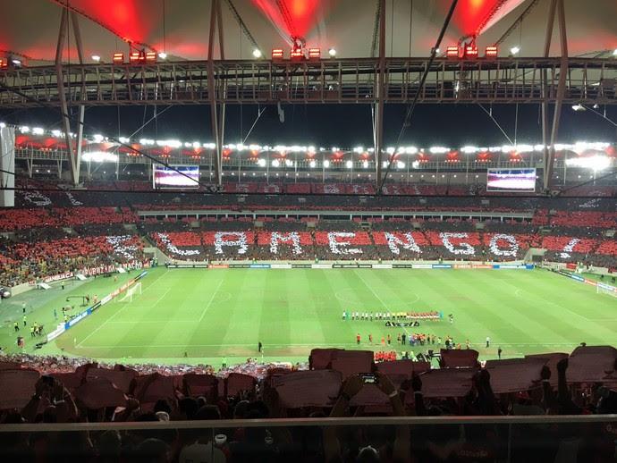Mosaico Flamengo x San Lorenzo (Foto: GloboEsporte.com)