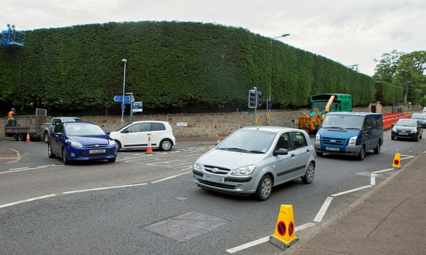 Temporary traffic lights installed outside JK Rowling's Edinburgh home
