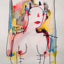 Gender Free<br />Watercolour and Marker on Paper<br />29.7cm x 42cm
