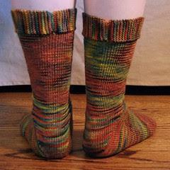 fall colors socks