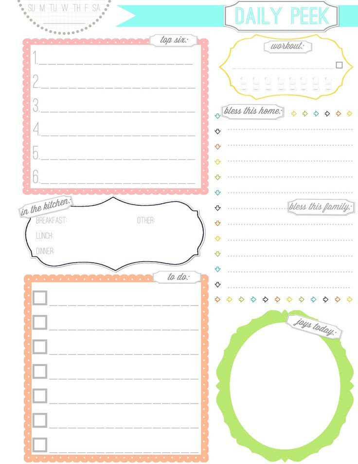 1000+ ideas about Daily Planner Printable on Pinterest | Daily ...