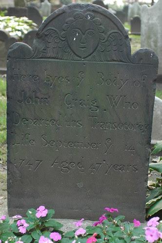 Headstone, Trinity Church Cemetery