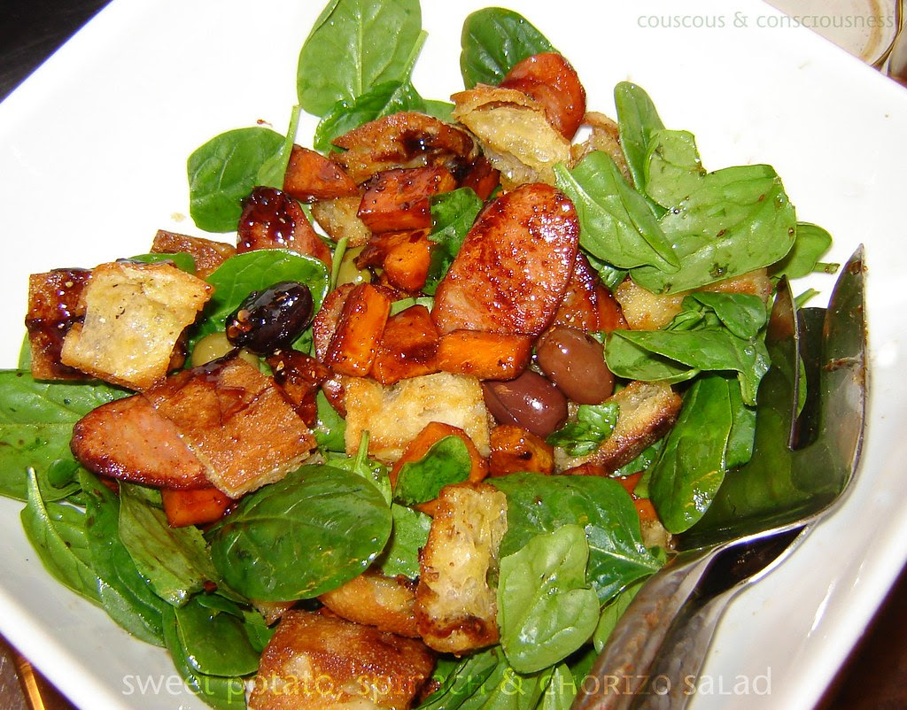 Sweet Potato Spinach & Chorizo Salad 1, edited
