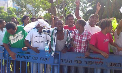 Eritrean migrants protest Negev detention facility