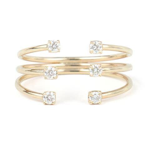 White Diamond Cage Cuff Ring   Jewelry   Catbird   jewelry