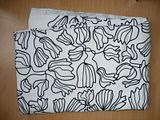 IKEA Black and White Floral Material