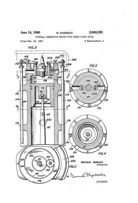 Patent US2940325 - Internal combustion engine with swash