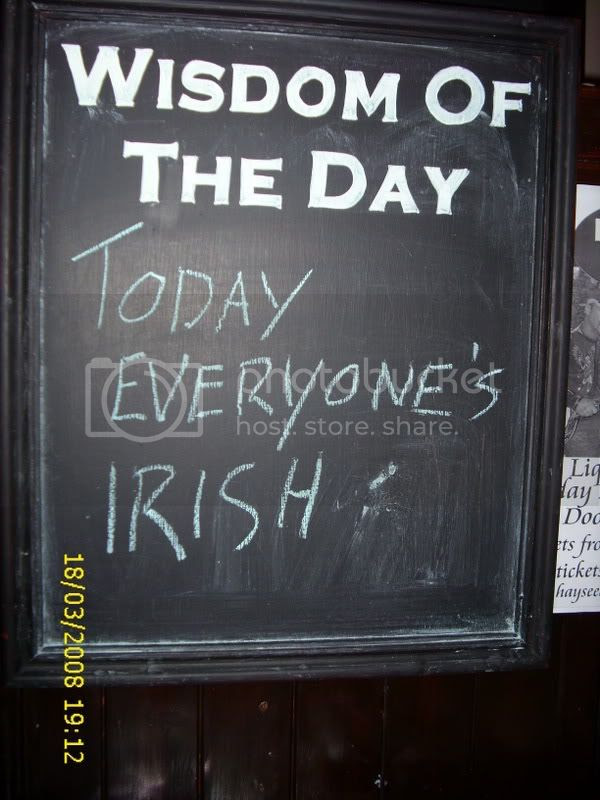 half the world is Irish and the other half is jealous…