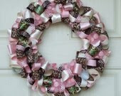 Pink and Brown Wreath