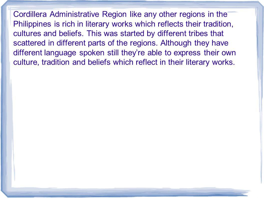 Cordillera Administrative Region  ppt download