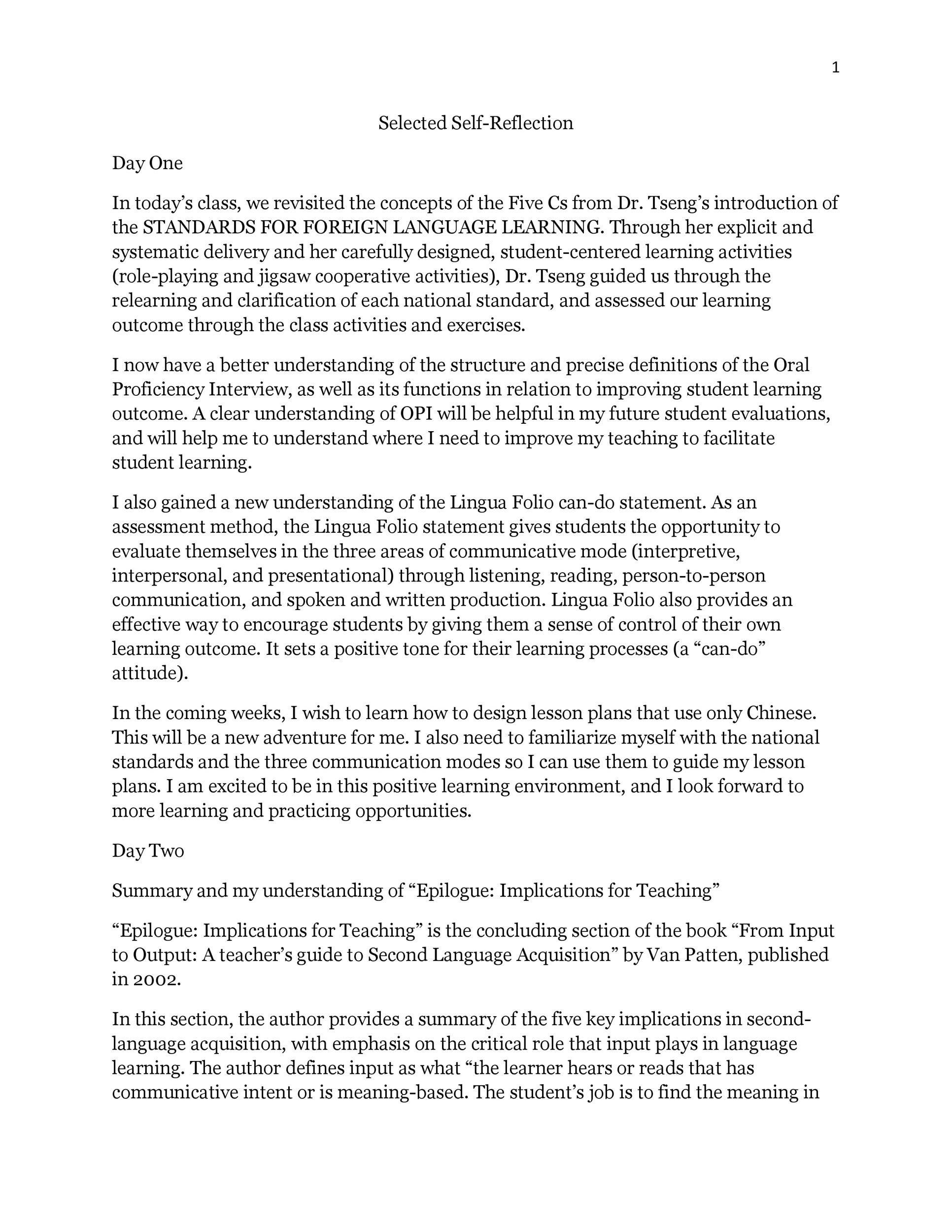 how to write reflective essay example