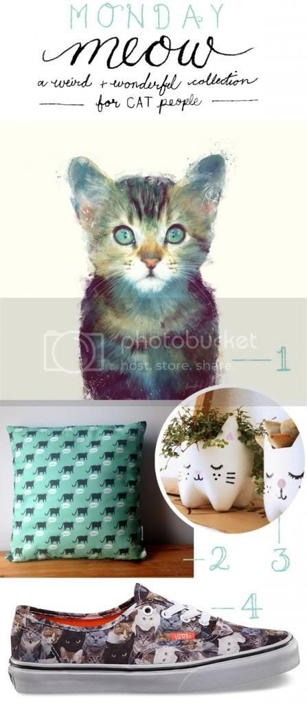 Monday Meow - a weird and wonderful collection of cat themed items