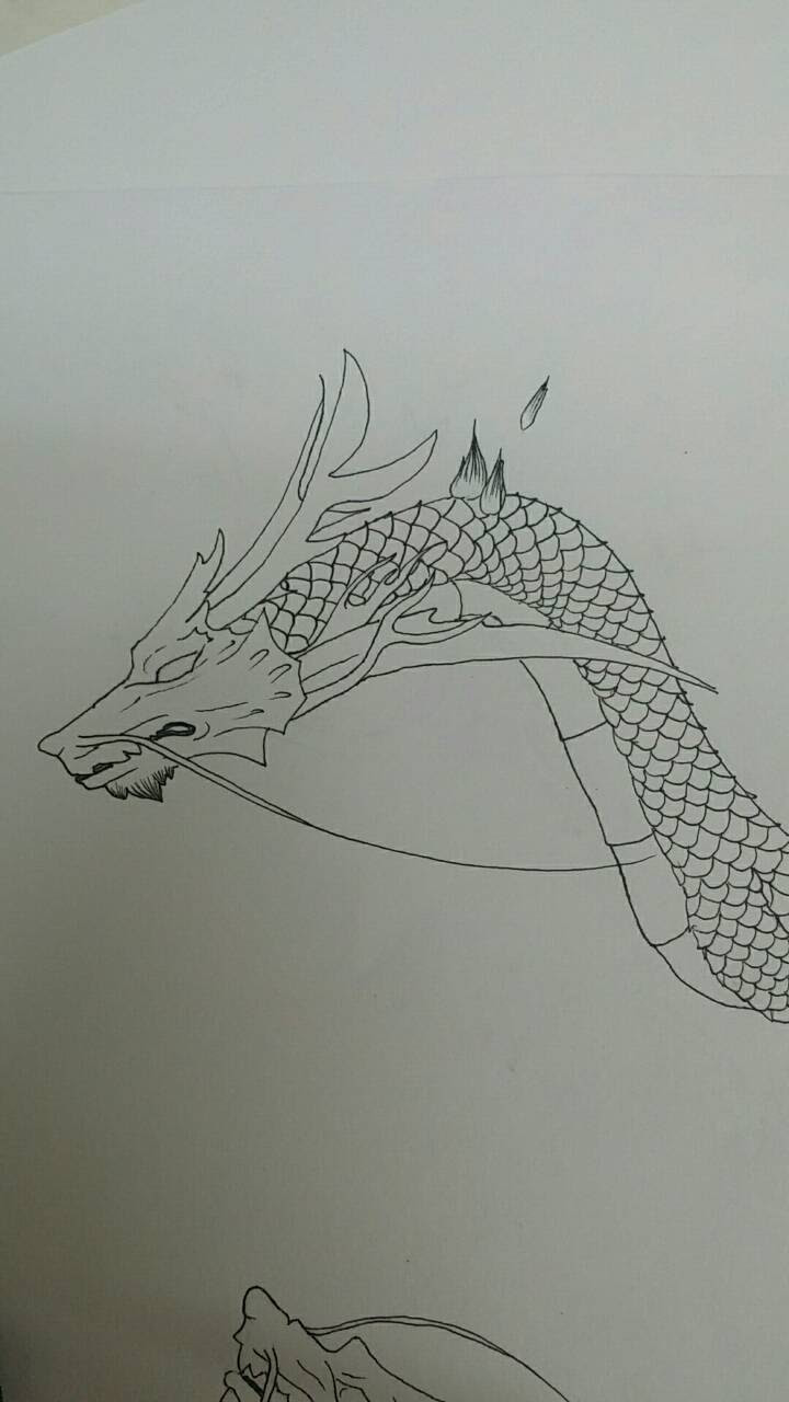ボールペンイラスト描き方講座龍part1 ボールペンイラスト描き方講座