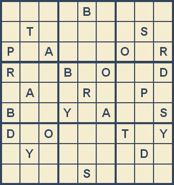 Mystery Godoku Puzzle for January 05, 2009