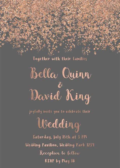 rose gold wedding invitation background kata kata mutiara