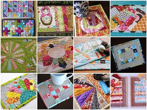 mug rug round 3 inspiration mosaic by snowonturtles
