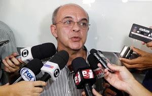Eduardo Bandeira de Mello Flamengo, coletiva, FERJ (Foto: Uanderson Fernandes / Ag. Estado)