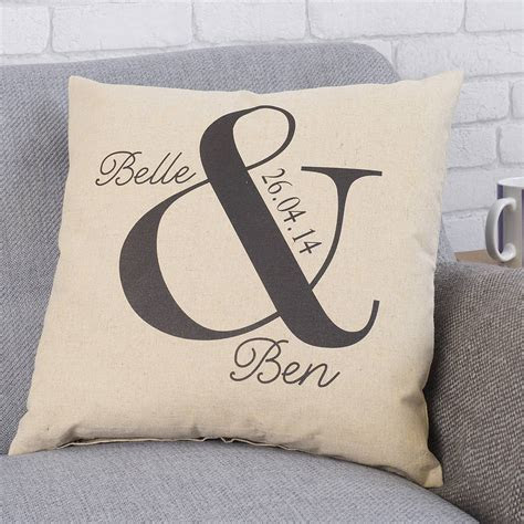 personalised ampersand wedding cushion by tillyanna