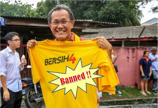 Bersih 4.0 - Yellow Clothing and Words Banned