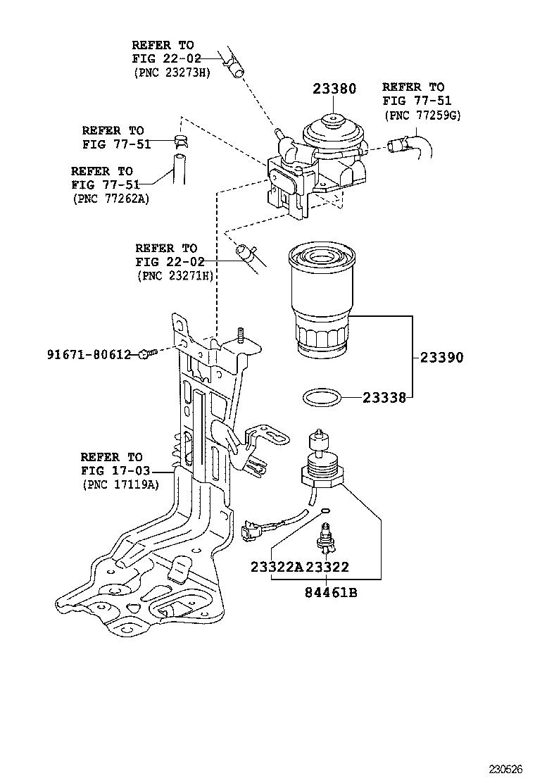 Toyotum Rav 4 Fuel Filter