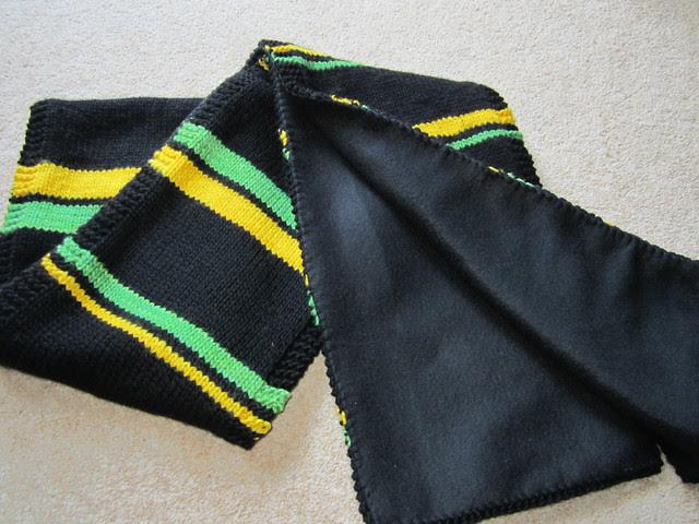 Mr JK's footie scarf, lined (3)