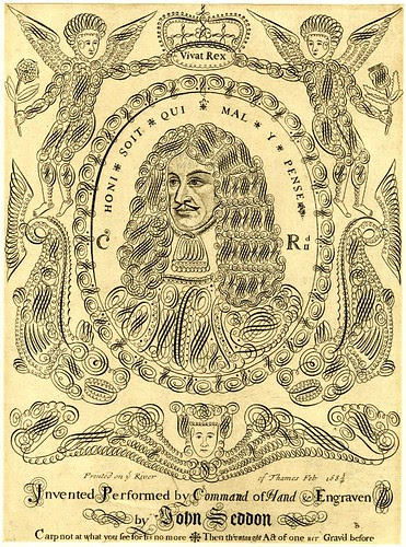 Portrait of Charles II in penmanship (Sneddon)