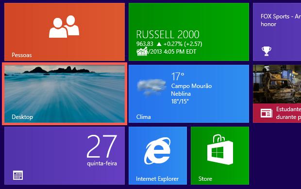 Abra o desktop (Foto: Reprodução/Helito Bijora)