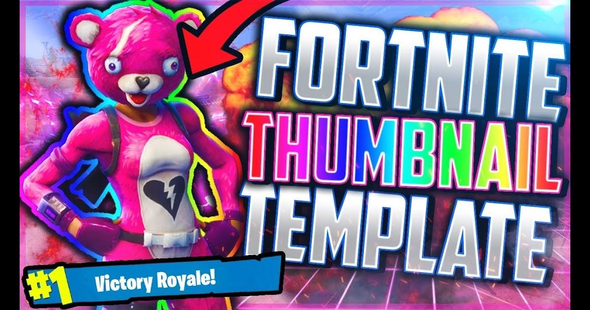 Fortnite Thumbnail Template Photoshop File