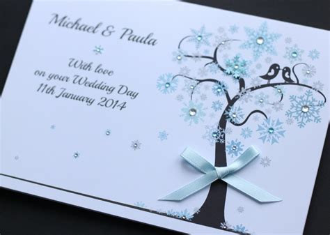 LARGE Handmade Personalised WINTER WEDDING Congratulations