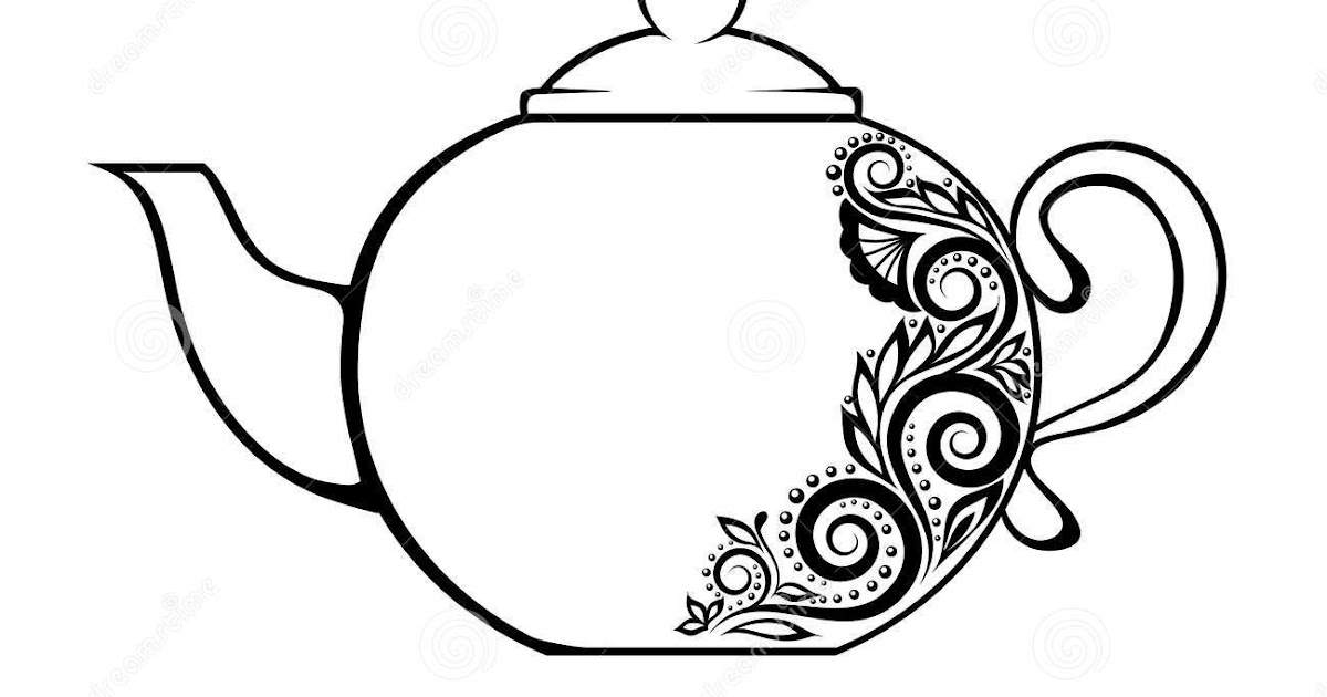 20 Fresh Teapot Coloring Page