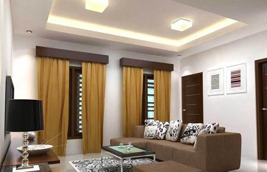 Rekomendasi Desain Plafon Gypsum Ruang Tamu Minimalis Kontraktor