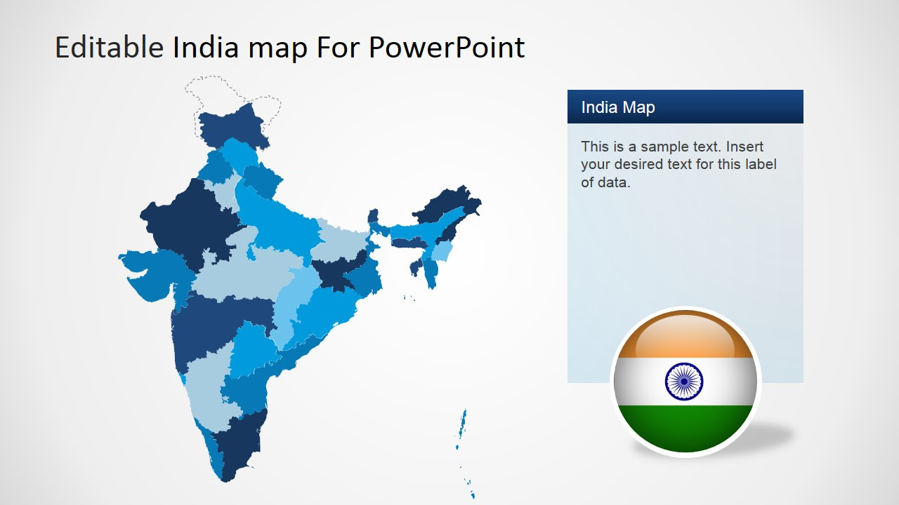 India Ppt Template. India Map Editable PPT Map India India Map ...
