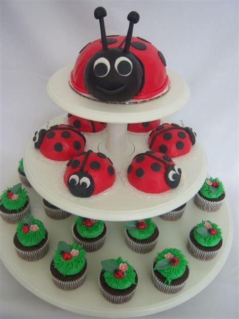 Creative Cakes By Angela: Ladybug Cake and cupcakes