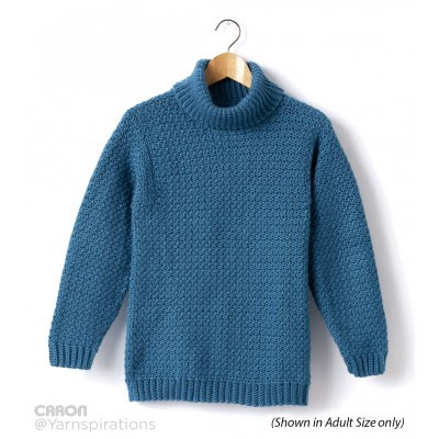 Child's Crochet Turtle Neck Pullover