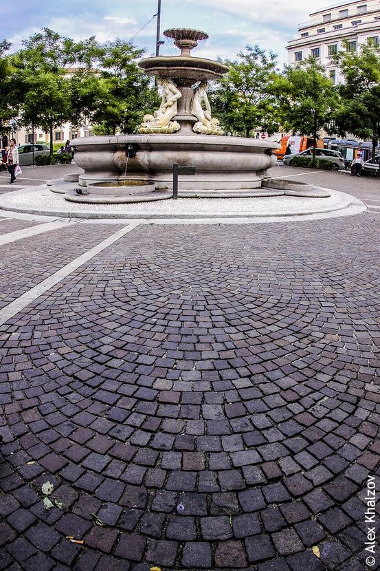 фонтан в Милане