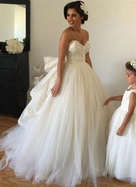 2017 Wedding Dresses with Detachable Train Sweetheart