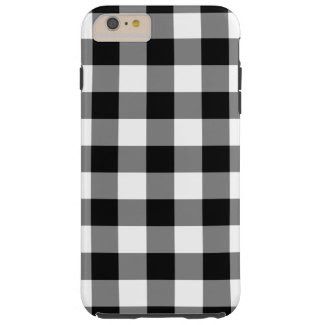Black and White Gingham Pattern iPhone 6 Plus Case