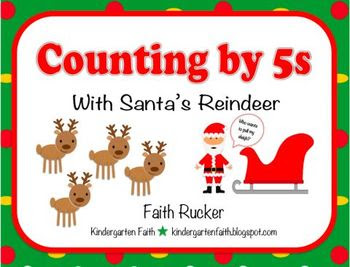 Counting by 5s with Santa's Reindeer