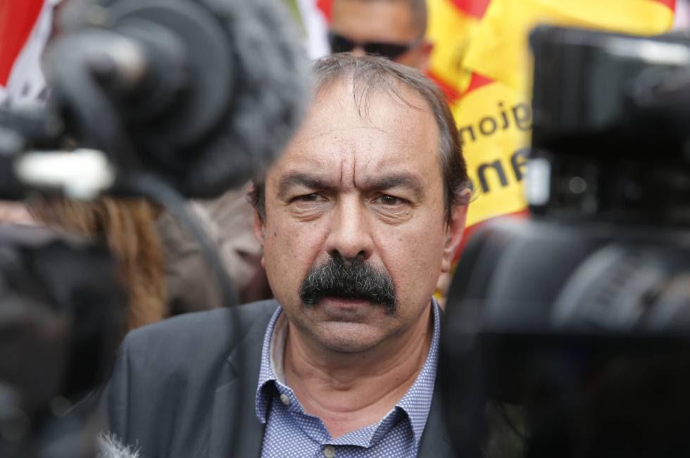 Philippe Martinez en una protesta en París el 17 de mayo.